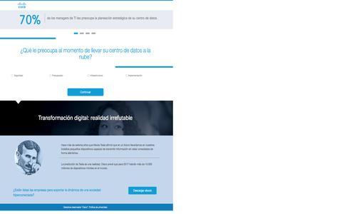 Screenshot of Landing Page cisco.com - Cisco - captured Sept. 24, 2016