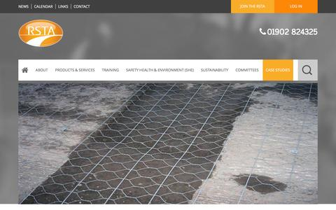 Screenshot of Case Studies Page rsta-uk.org - Case Studies | RSTA – Road Surface Treatments - captured March 8, 2016