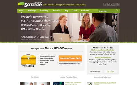 Screenshot of Home Page frontrangesource.com - Front Range Source - Fundraising Consulting, Concepts & Connections - captured Sept. 30, 2014