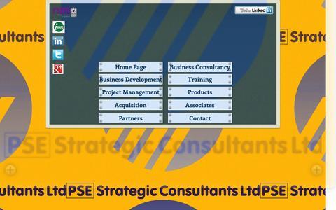 Screenshot of Home Page psestrategicconsultants.com - PSE Strategic Consultants - captured Jan. 23, 2016