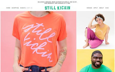 Screenshot of Home Page stillkickin.co - Still Kickin - captured July 8, 2018