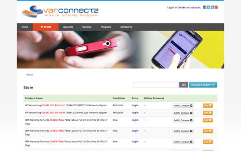 Screenshot of Products Page varconnectz.com - Shop & Buy Branded Computer & IT Products Online - captured Sept. 23, 2014