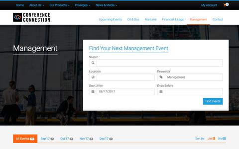 Screenshot of Team Page cconnection.org - Category: Management | CConnection Conference Connection Group - captured Aug. 17, 2017