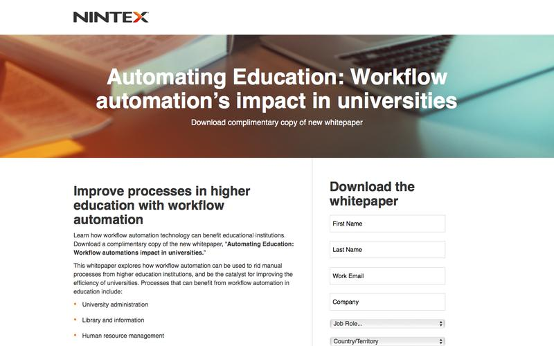 Automating Education: Workflow automation's impact in universities