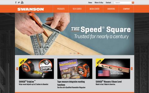 Screenshot of Home Page swansontoolco.com - Swanson® Tool Company - captured Feb. 16, 2016