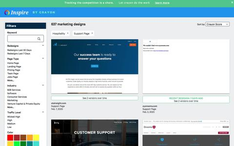Screenshot of Support Page crayon.co - Hospitality Support Pages | Website Inspiration and Examples | Crayon - captured Feb. 10, 2020
