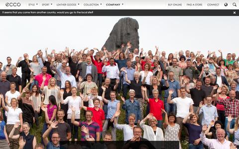 Screenshot of Team Page ecco.com - ECCO.com - captured Sept. 18, 2014