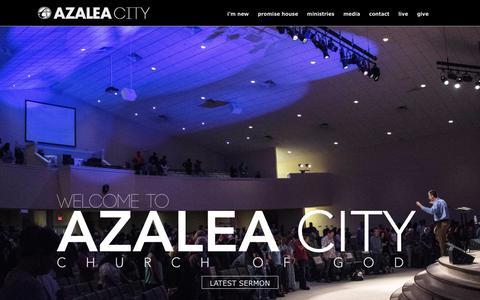 Screenshot of Home Page myazaleacity.com - Azalea City Church of God - Valdosta, GA - captured Oct. 9, 2017