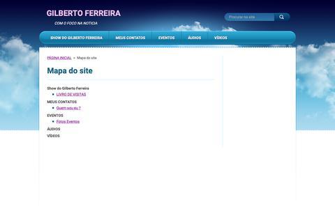 Screenshot of Site Map Page gilbertoferreira.com.br - Mapa do site :: GILBERTO FERREIRA - captured Oct. 1, 2018