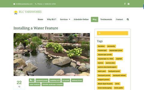 Screenshot of Blog blcyardworks.com - Yorkville Landscaping Companies | BLC Yardworks - captured Dec. 28, 2015