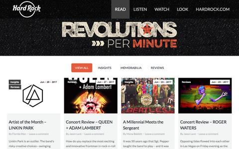 Hard Rock presents Revolutions Per Minute – Stories from then and now of Rock 'n Roll history
