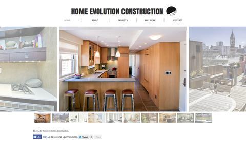 Screenshot of Site Map Page hecnyc.com - home-evolution - captured Oct. 3, 2014