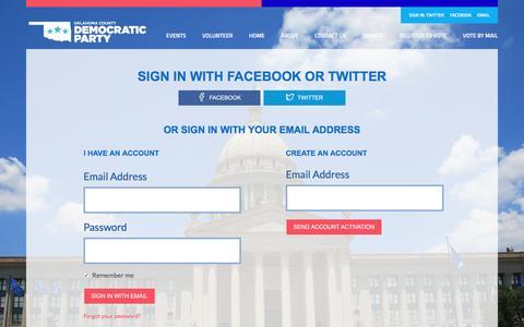 Screenshot of Login Page nationbuilder.com - Sign in - captured June 19, 2016