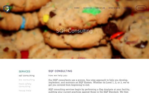 Screenshot of Services Page empirefoodscience.com - SQF Consulting Ń Empire Food Science - captured Dec. 9, 2015