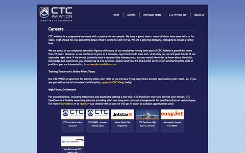 Screenshot of Jobs Page ctcaviation.com - Careers - CTC Aviation - captured Oct. 1, 2014