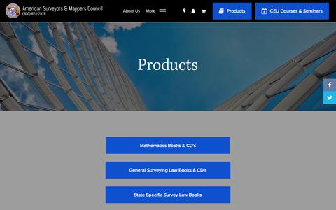 Screenshot of Products Page surveyors.org - Products - American Surveyors & Mapping Council - American Surveyors & Mappers Council - captured Dec. 3, 2018