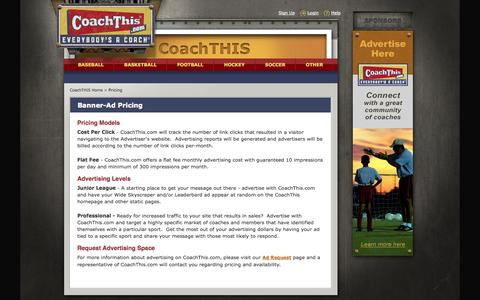 Screenshot of Pricing Page coachthis.com - CoachThis Pricing :: CoachTHIS, Where Everyone Is A Coach - captured Sept. 30, 2014