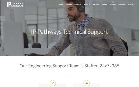 Screenshot of Support Page ippathways.com - Support - captured Dec. 31, 2016
