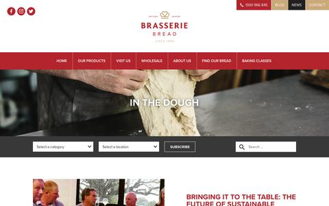 Screenshot of Press Page brasseriebread.com.au - News & Events Archives - Brasserie Bread - captured June 2, 2017