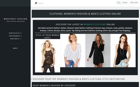 Screenshot of Home Page martenvy.com - Clothing:     Shop Women's Fashion & Men's Clothes Online - captured Jan. 15, 2016