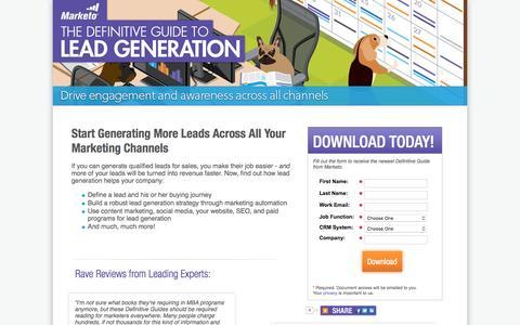Screenshot of Landing Page marketo.com - The Definitive Guide to Lead Generation - Marketo - captured April 21, 2016