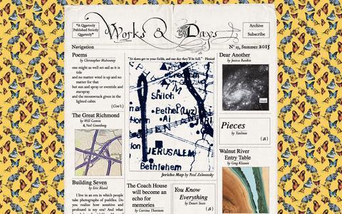 Screenshot of Home Page works-and-days.com - Works & Days Quarterly - captured Sept. 26, 2015