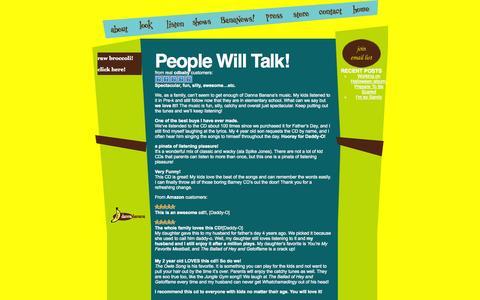 Screenshot of Press Page dannabanana.com - People Will Talk! – danna banana - captured Oct. 5, 2014