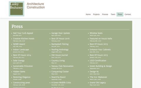 Screenshot of Press Page lasleybrahaney.com - Press | Lasley Brahaney | Architecture + Construction | Princeton New Jersey - captured Oct. 25, 2016