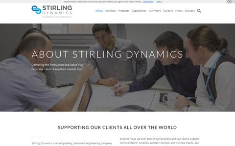 Screenshot of About Page stirling-dynamics.com - About Stirling Dynamics | Stirling Dynamics - captured Nov. 18, 2018