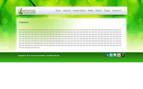 Screenshot of Jobs Page snscare.com - Careers - captured Oct. 4, 2014
