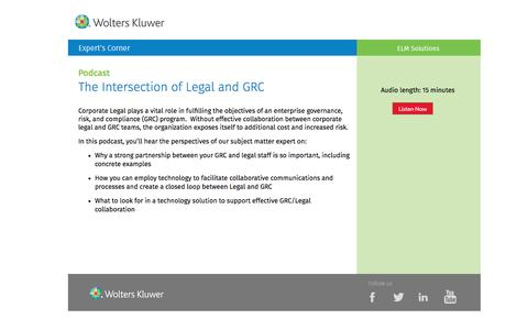 Screenshot of Landing Page datacert.com - Podcast: The Intersection of Legal and GRC - captured Aug. 17, 2016