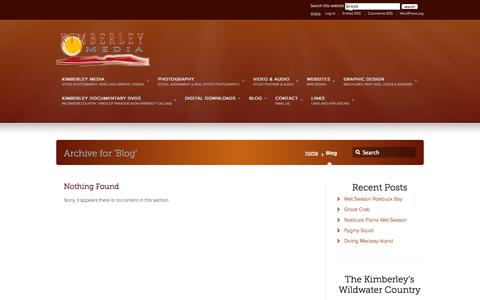 Screenshot of Blog kimberleymedia.com.au - Blog –  kimberleymedia.com.au - captured Sept. 30, 2014