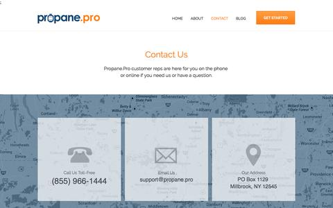 Screenshot of Contact Page propane.pro - Propane.Pro - Get The Best Deals on Propane - captured Nov. 14, 2016