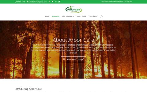 Screenshot of About Page arbor-care.co.za - About Arbor-Care - Arbor Care - captured Dec. 26, 2015