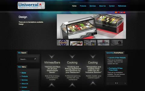 Screenshot of Home Page univerzal.com.mk - Univerzal Er Er - captured Oct. 6, 2014