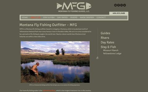 Screenshot of About Page montanaflyfishingguides.com - Montana Fly Fishing Outfitter - Montana Fly Fishing GuidesMontana Fly Fishing Guides, LLC. - captured Feb. 14, 2016