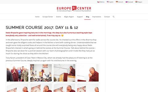Summer Course 2017: Day 11 & 12 - Europe Center