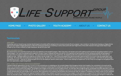 Screenshot of Privacy Page Testimonials Page lifesupportgrp.com - Testimonials - captured Nov. 1, 2018