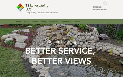 Screenshot of Home Page tslandscape.com - Landscape Company   Mount Prospect   TS Landscaping - captured Oct. 18, 2018
