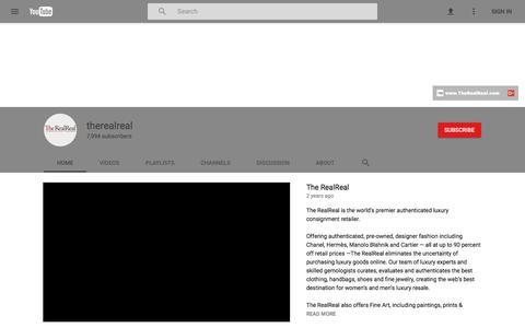 therealreal - YouTube