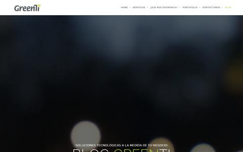 Screenshot of Blog greenti.cl - Noticias Tecnología GreenTi - captured Oct. 28, 2014