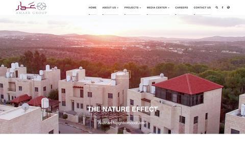 Screenshot of Home Page amaar.ps - Home - captured Oct. 8, 2017