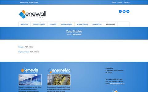 Screenshot of Case Studies Page enewall.co.uk - Case Studies ‹ enewall - captured Oct. 2, 2014