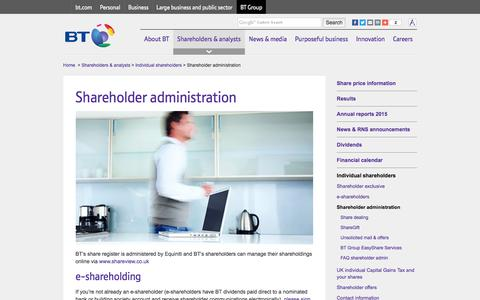 Shareholder administration