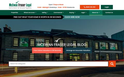 Screenshot of Blog mcewanfraserlegal.co.uk - Blog | McEwan Fraser Legal - captured Oct. 3, 2019