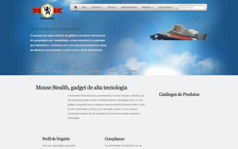 Screenshot of Home Page commandder.com.br - Commandder - Gestao Empresarial - contato@commandder.com.br - captured Oct. 5, 2014