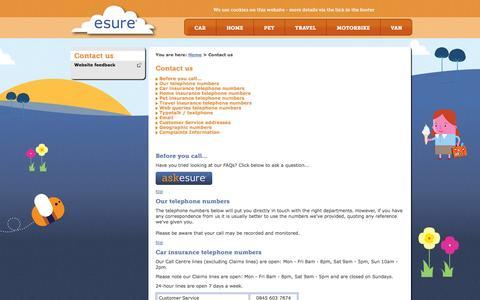 Contact us | esure