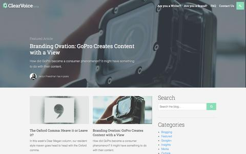 Screenshot of Blog clearvoice.com - Content & Digital Marketing Blog | ClearVoice - captured Sept. 19, 2014