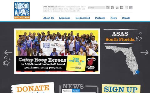 Screenshot of Press Page sfasas.org - South Florida - captured Nov. 4, 2014