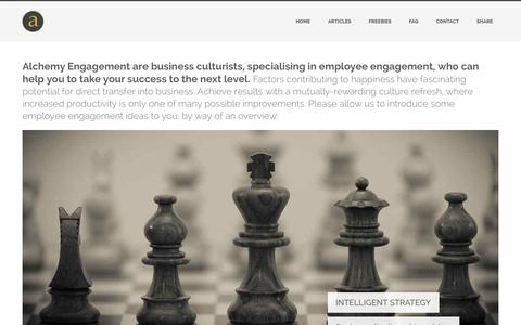Screenshot of Home Page alchemyengagement.com - Employee Engagement Consultancy | from Alchemy Engagement - captured Sept. 30, 2014